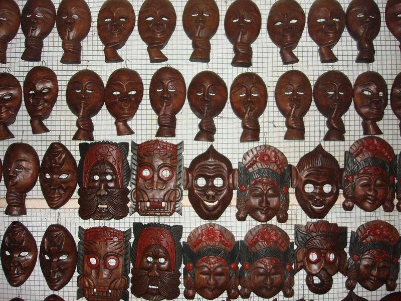 сувениры из дерева,  маски